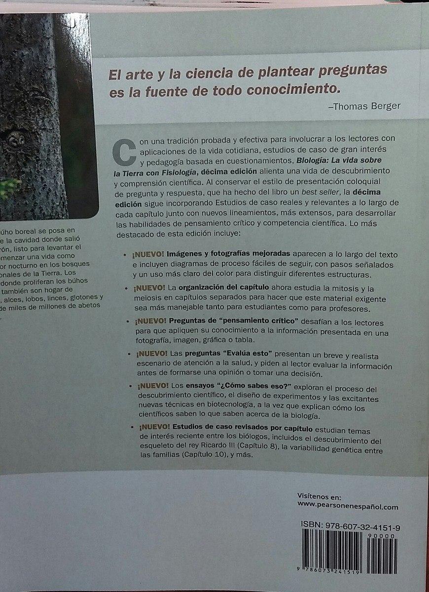 Biología La Vida En La Tierra C/fisiología 10 Edic. Audesirk ...