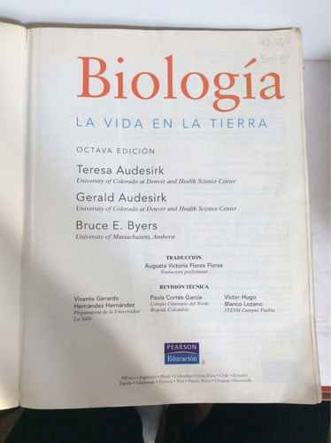 biología, la vida en la tierra, por teresa y gerald audesirk