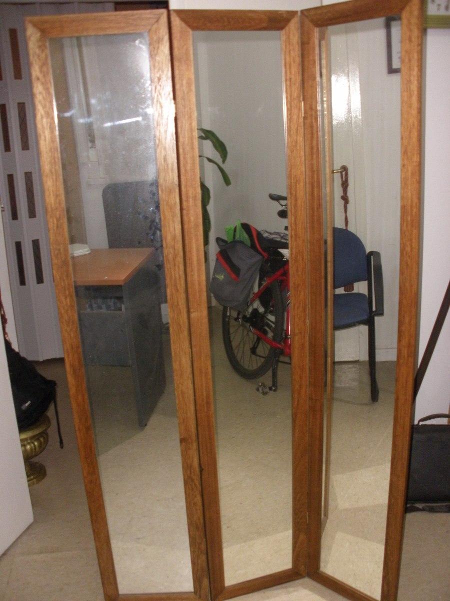 biombo cuerpos espejos marco madera acepto mercadopago