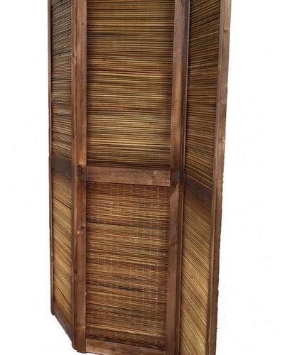 biombo de junco y madera teñido sin patas $ precio. x hoja