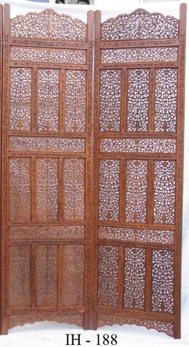 Biombo de madera hindu 8 en mercado libre - Biombos de madera ...