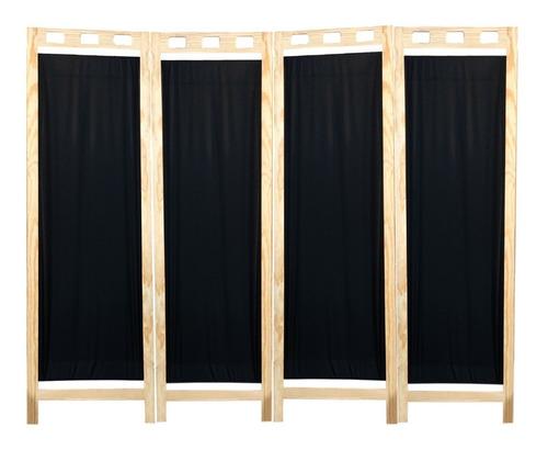 biombo de madera pino mampara práctico 4 panel envío gratis