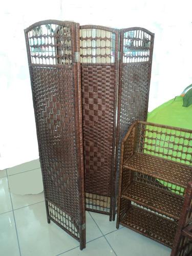 biombo de ratan mts en mercado libre. Black Bedroom Furniture Sets. Home Design Ideas