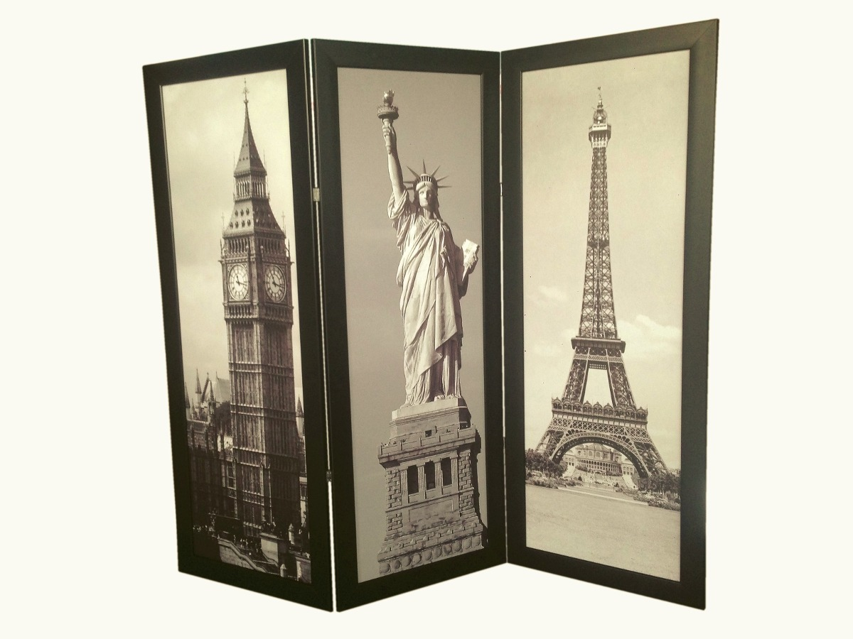 Biombo decorativo minimalista 1 2 x 45 cm personalizado 1 en mercado libre - Que es un biombo ...