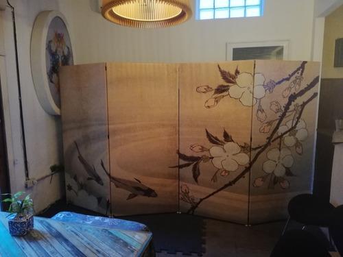 biombo, divisor ambiente, separador, panel, ramas x 1 hoja