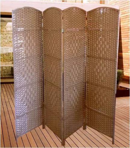 biombo grande separador ambientes 180 x 2 mtrs cafe claro - Separador De Ambientes