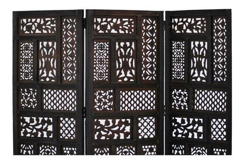 biombo hemmingway 3-panel madera screen