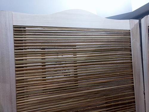 biombo junco y madera todo x 3 hojas (1.80 alto  x 0.45 anc)