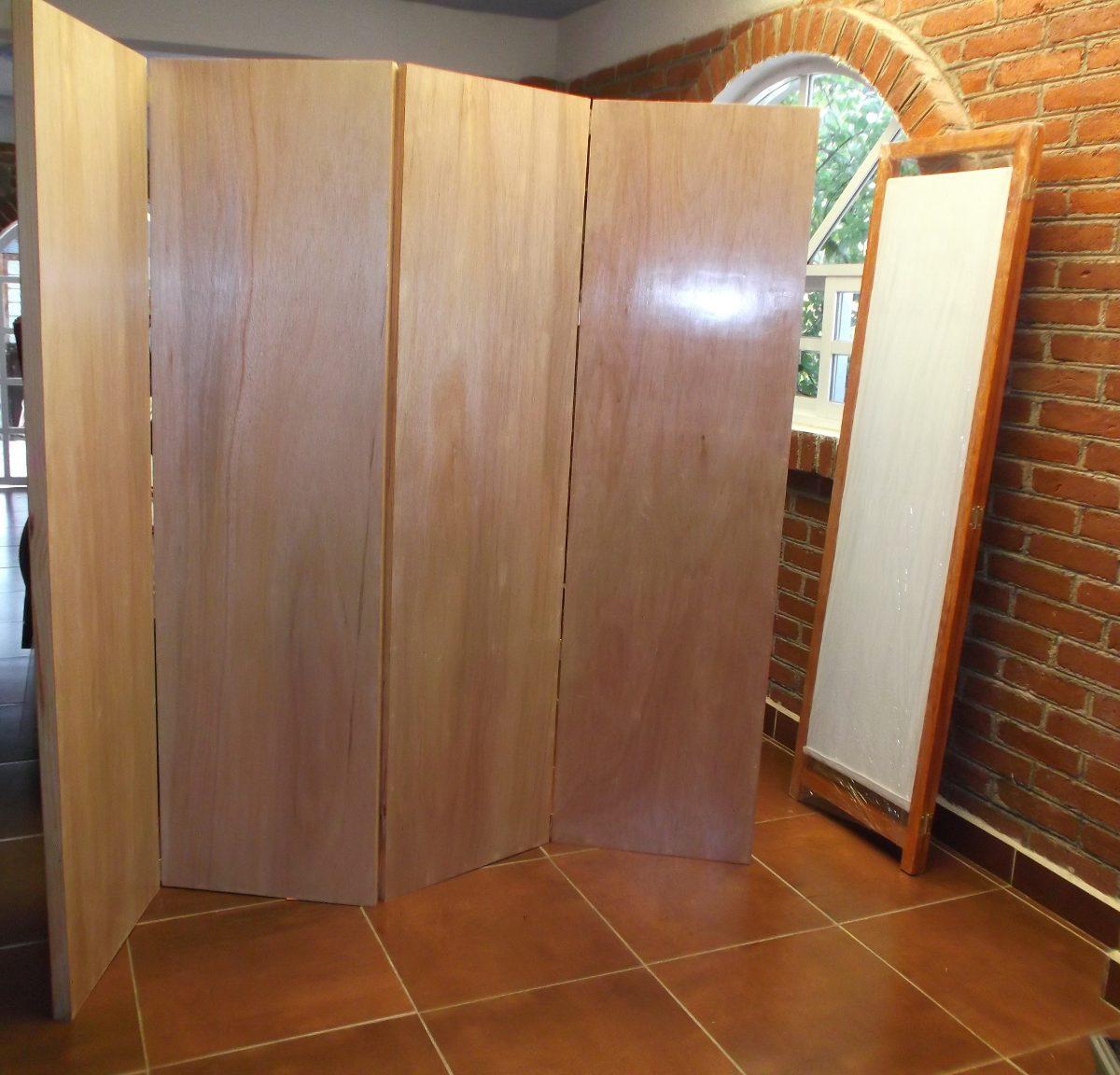 Biombo mampara madera nueva envi gratis 3 en mercado libre - Que es un biombo ...