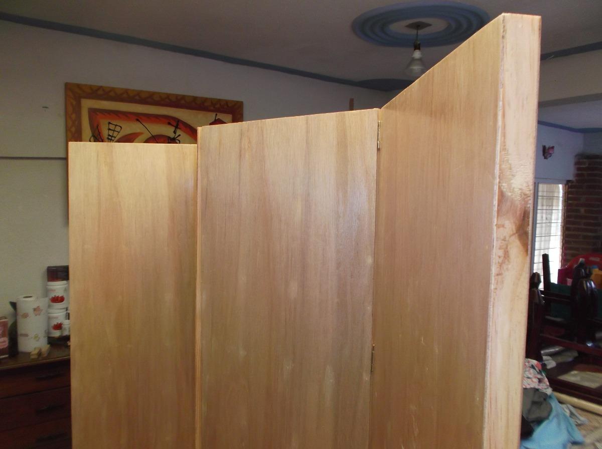 Biombo mampara madera nueva envi gratis 3 en - Hacer una puerta de madera ...