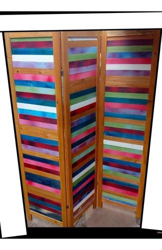 biombo multicolor ( venta por hoja)