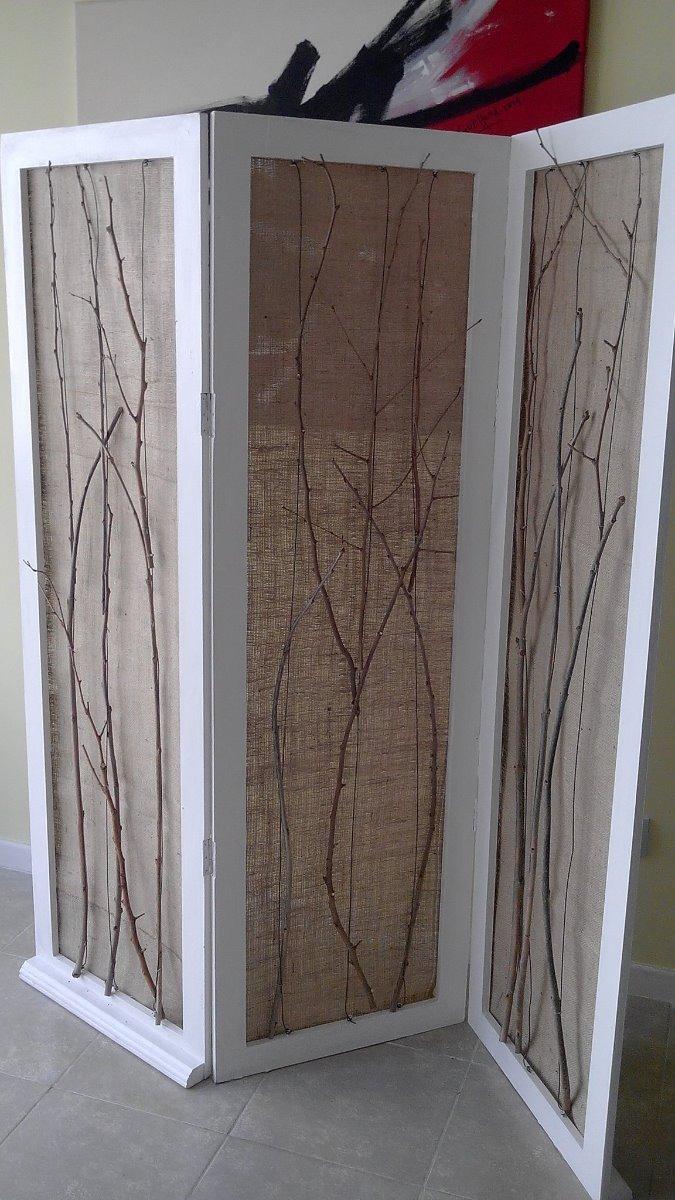 Biombo reciclado con bamb biombos t biombos - Biombos separadores de espacios ...