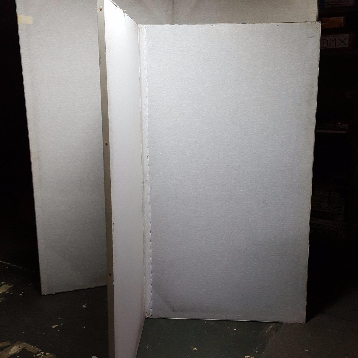 biombo separador x mts madera y tela con l aluminio