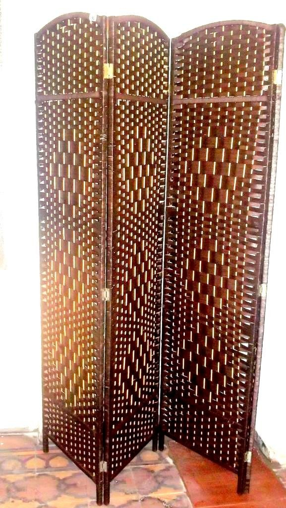 biombo separador decorativo juego living dormitorio sillones