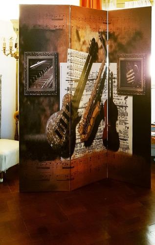 biombo -separador - impresos - linea music -precio por hoja