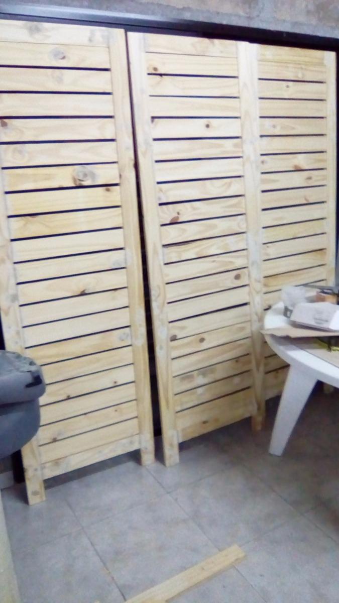 Biombos Paneles Divisores De Pino Para Monoambientes 3 078 00  # Muebles Separadores Para Monoambientes
