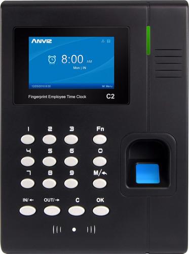 biometrico de asistencia anviz a color tiempo y huella c2