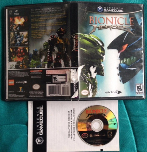bionicle heroes  - gamecube gc - compatible wii