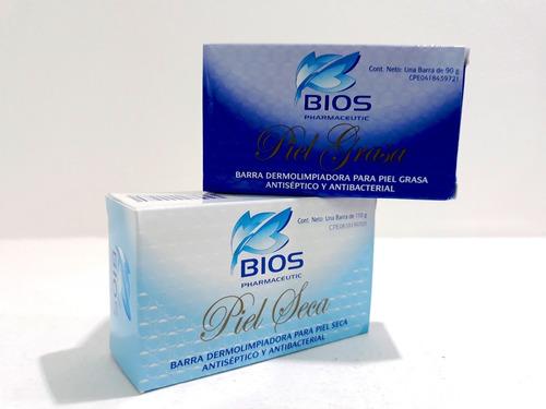bios - jabón barra limpiadora piel grasa / seca antiséptica