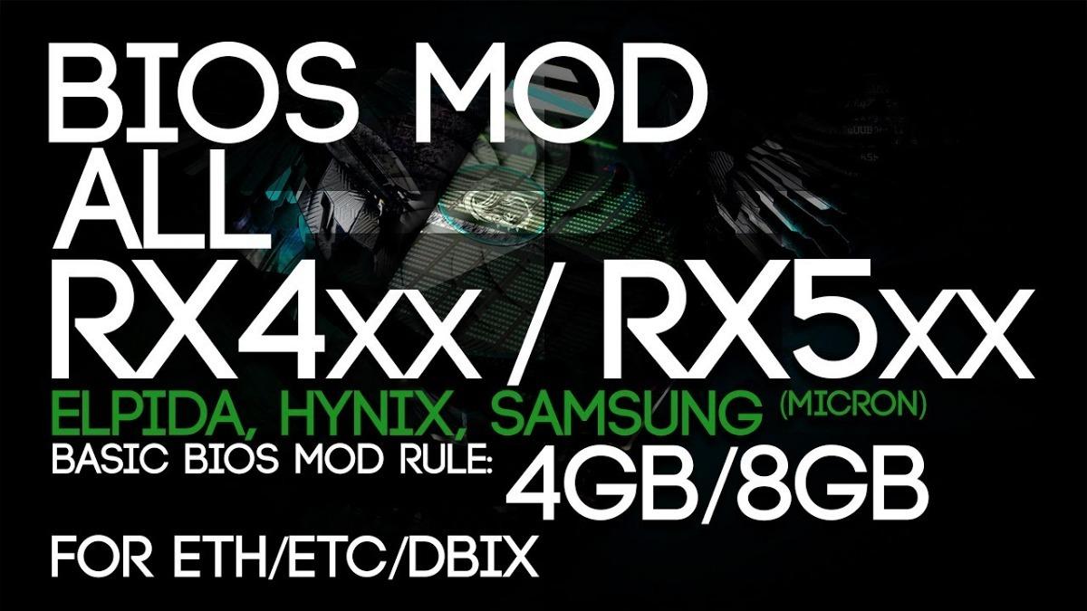 Bios Mod Rx 570 / Rx 580 / Rx 470 / Rx 480 - 4gb E 8gb