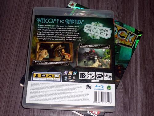 bioshock ps3 edição importada com sobrecapa exclusivo