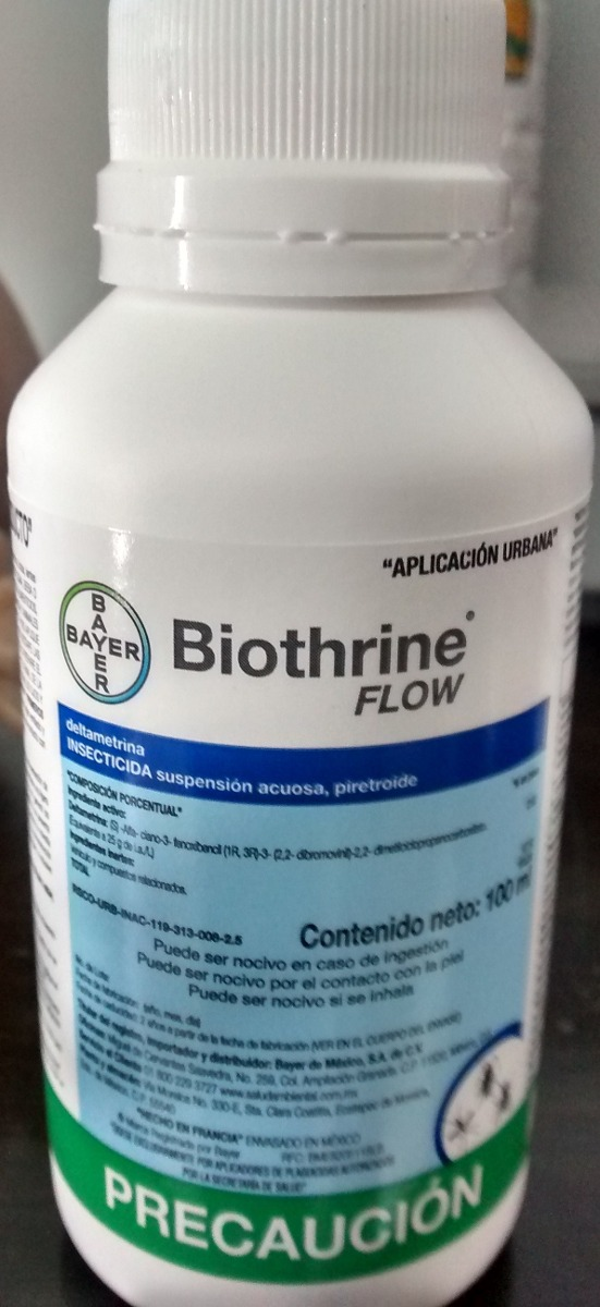 Biothrine Flow 100ml. Bayer Insecticida Elimina Chinches ...