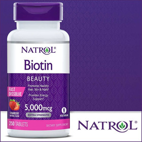 Biotin 5000 Mcg Natrol X 250 Pastillas Usa 2020