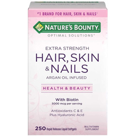 Biotin Hair Skin Nails Cabello Piel Uñas 250 Soft Envigratis