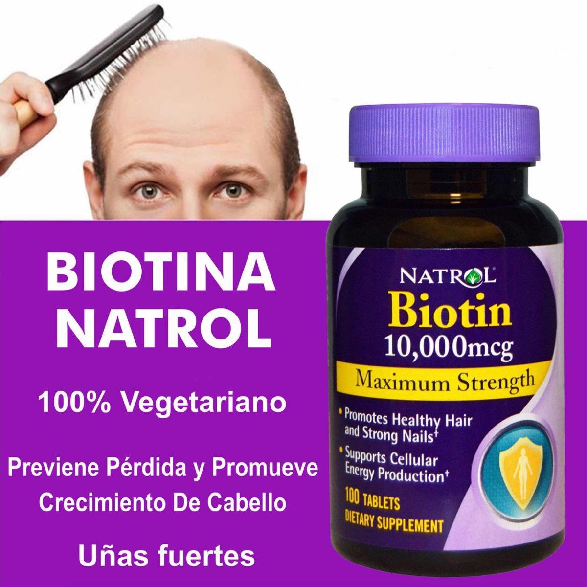 Biotin Natrol Maximum Strength 10000 Mcg X 100 Precio Promo Tablets Cargando Zoom