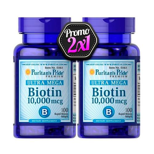 biotina 10000mgc paga 1 lleva 2 / envío gratis