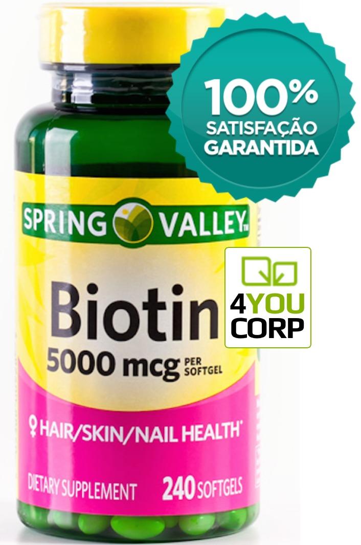 Biotina 5000 Mcg Springvalley® 240 Cap Softgel | Envio 24h