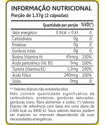 biotina firmeza & crescimento - 3x60 cápsulas - maxinutri