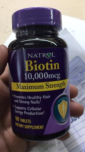 biotina natrol de 10.000 / 100 cápsulas