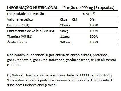 biotina original fórmula premium avançada 450mg - 01 pote