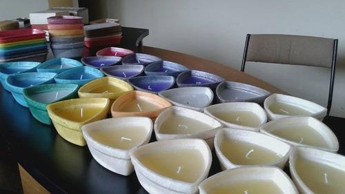 biovela decorativa triangular colorida e/ou aromatizada