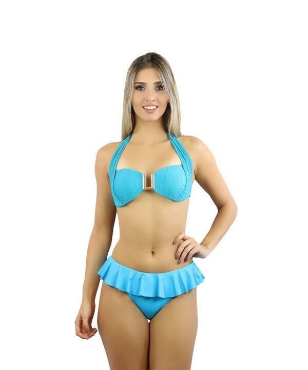 cb97a486e77a Biquini Babado Senhora Super Comportado Moda Praia 2018 Y5 - R$ 63 ...