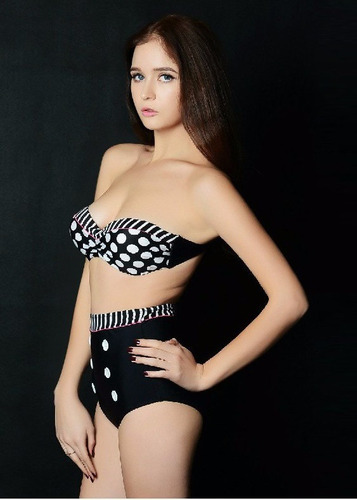 biquini bikini cintura alta pin up vintage retrô sexy