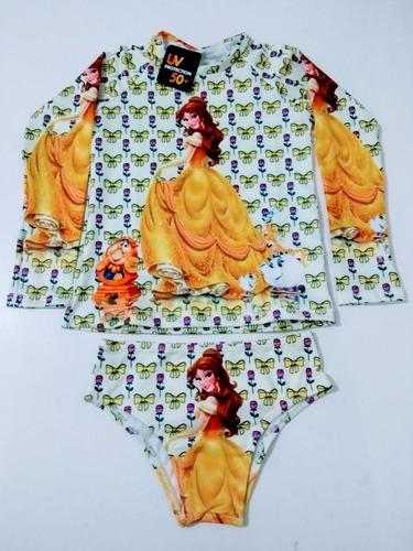 biquíni + camisa proteção uv50 lol bela sofia ariel luna 2