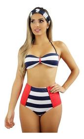 2cb8bb62506a Maio Plus Size Retro Mulher - Moda Praia com o Melhores Preços no Mercado  Livre Brasil