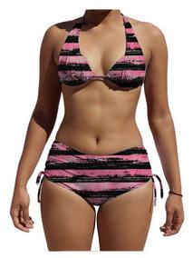 e1193dadfa2978 Biquini Com Bojo E Calcinha Shortinho Sunquini Praia Bikini