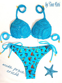 ccd16c8cd Biquíni Cintura Alta Croche Mulher - Moda Praia no Mercado Livre Brasil