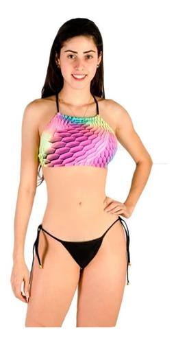 biquíni cropped sereia praia verão