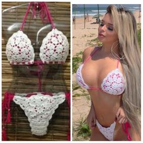 e4ca79af085f Conjunto De Coxinha Em Croche Biquinis M - Moda Praia com o Melhores ...