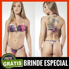 b0b772e96 Biquini Fio Dental Cortininha - Maiôs e Biquinis Femininos Biquíni com o  Melhores Preços no Mercado Livre Brasil