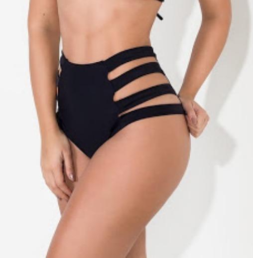 95b9e3e3e593 Biquini Hot Pant, Cintura Alta, Tiras Grossas - R$ 35,00 em Mercado ...