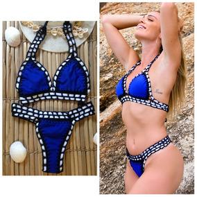 4451387e8 Biquini Croche - Biquinis Outras Marcas Femininas Azul no Mercado ...