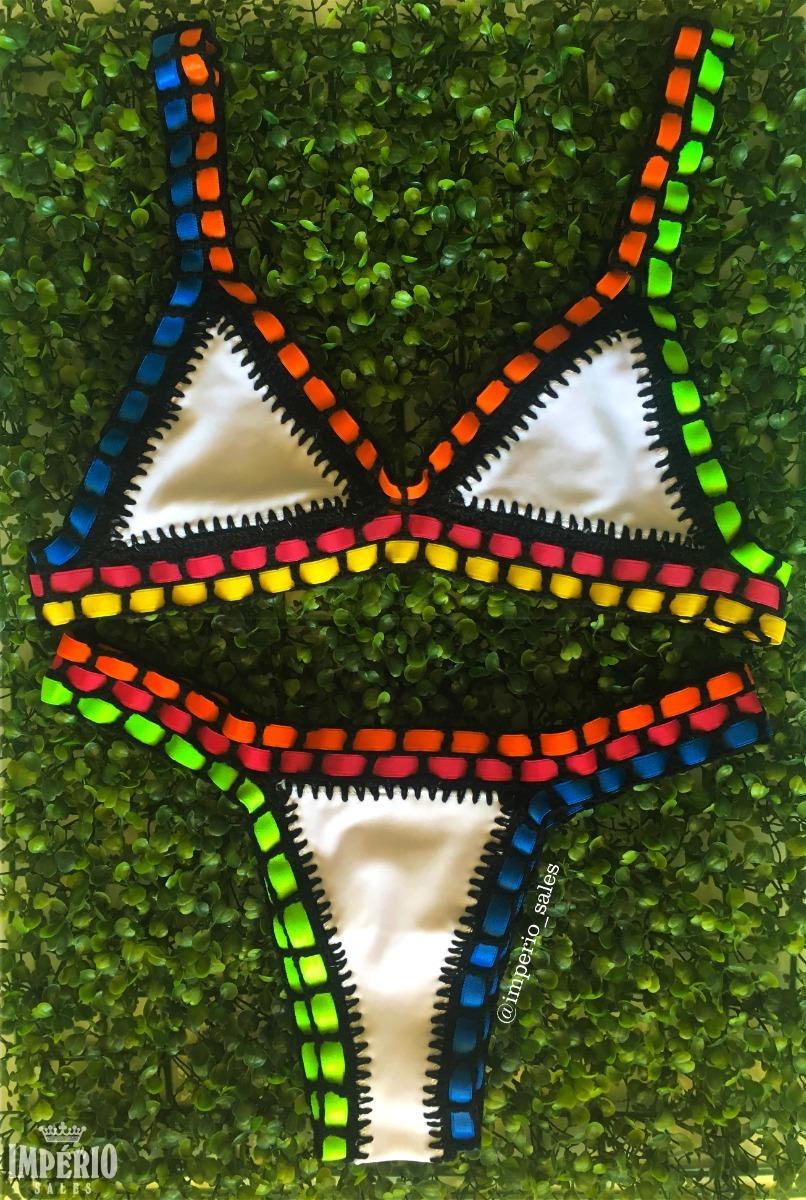 5197d8db0 biquíni neon crochê lycra e elásticos plus size tendência. Carregando zoom.