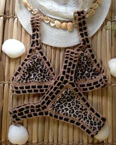 84acbd5cfda0 Biquini Croche Concha Biquinis Mulher - Moda Praia com o Melhores Preços no  Mercado Livre Brasil