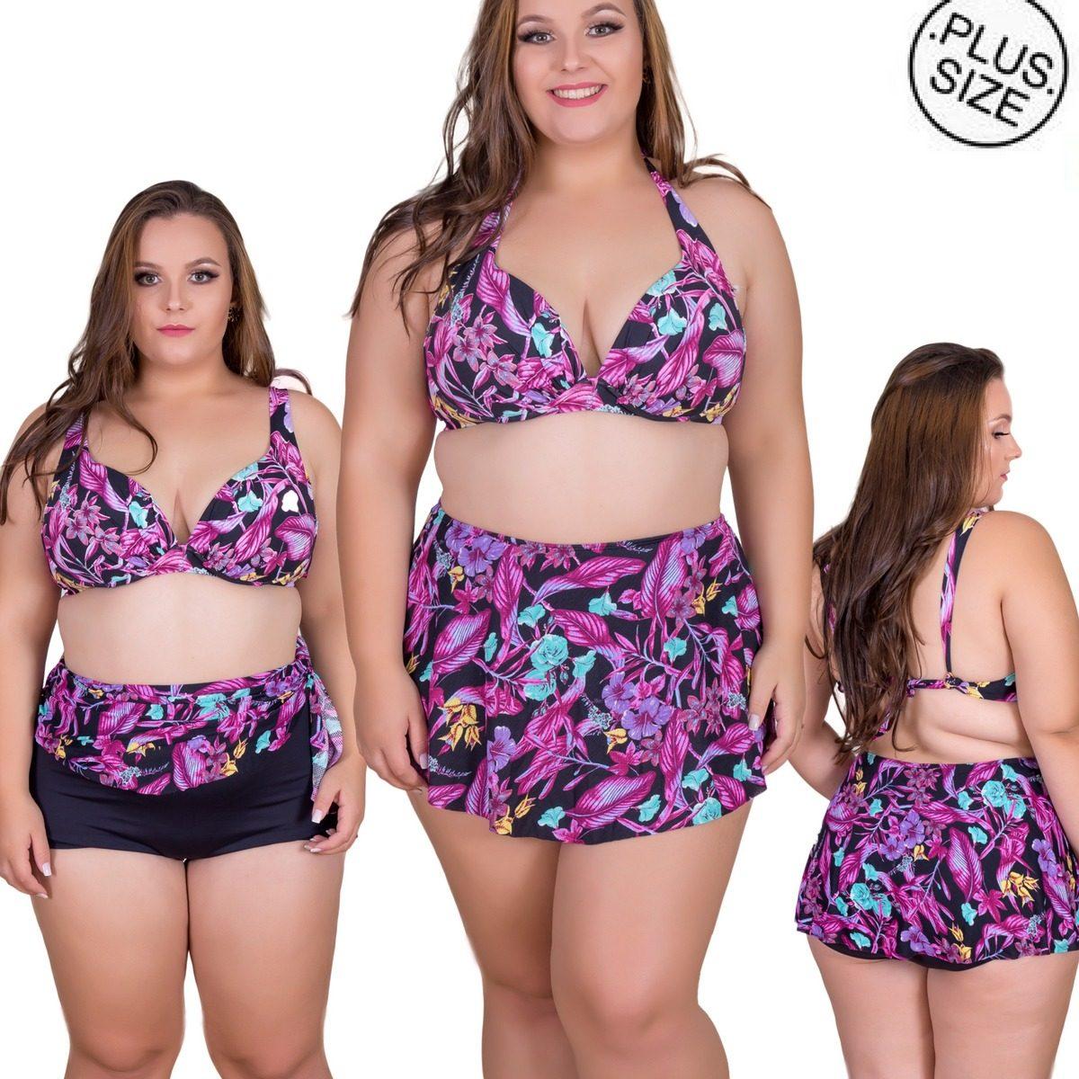 1c548e0a00dd biquini saia plus size bojo cintura alta maio plus size. Carregando zoom.