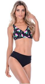 c2d21d23cc89 Biquíni De Cós Alto Biquinis Feminino - Moda Praia com o Melhores Preços no  Mercado Livre Brasil